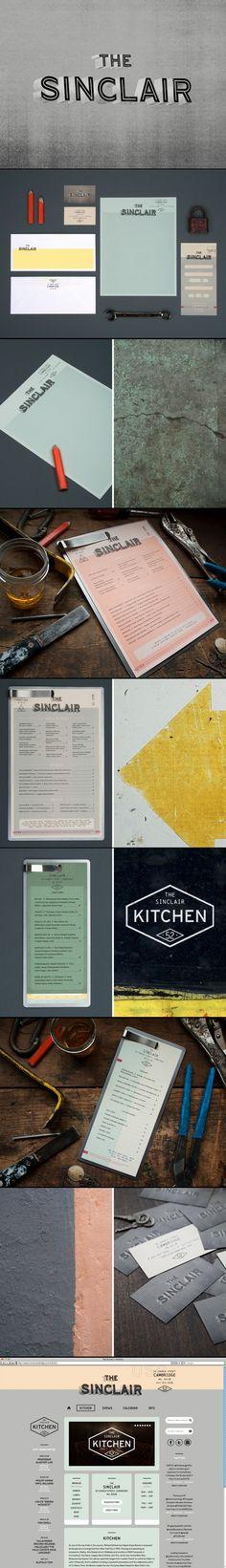 The Sinclair | Oat Creative Corporate design letterhead letter business card logo envelop colors graphic