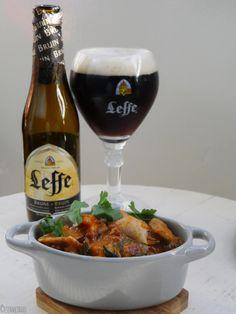 Coq au biere, kipstoof met Leffe bier Dutch Recipes, Portuguese Recipes, Low Carb Recipes, Healthy Recipes, One Pan Meals, No Cook Meals, Chicken Recepies, Coq, Different Recipes