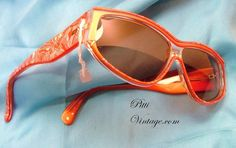 Vintage 80's Coral  Sunglasses Italy by PittiVintage on Etsy, $42.00