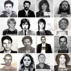 Classic celebrity mugshot print.  Just the decor to remind you that life usually gets better.  Unless you're like Lee Harvey Oswald (I think that's who it is) third row down on the right.  Nah, that must be someone else.  But who?  LOL