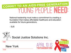 Today is the First National Youth HIV & AIDS Awareness Day  - Today marks the first ever National Youth HIV and AIDS Awareness Day (NYHAAD)in the United States, a day founded by Advocates for Youths Amplify Project in an effort to: to educate the public about the impact of HIV and AIDS on young people as well as highlight the amazing work... - http://wp.me/p2L3gq-3tT