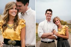 cute engagement photo outfit