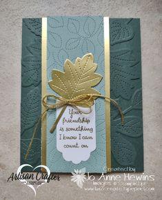 Stampin Up Christmas, Handmade Christmas, Fall Cards, Holiday Cards, Leaf Cards, Beautiful Handmade Cards, Stamping Up Cards, Thanksgiving Cards, New Leaf