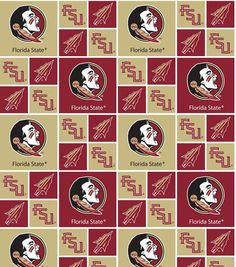 NCAA Florida State Seminoles 100% Cotton V2 Fabric by by FabricLA