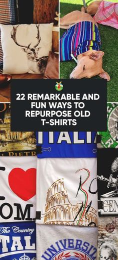 22 Creative and Fun Ways to Repurpose Your Old T-shirts