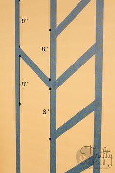 Hometalk :: Herringbone Pattern Accent Wall