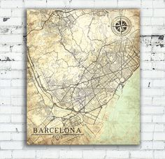 KANSAS CITY KS Canvas Print With Street Names Kansas Vintage map