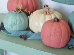 The 8 Coolest Decorative Pumpkins for Fall: DIY Hand Lettered Chalk Paint Pumpkins