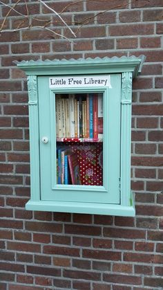 Little free library with French themed books