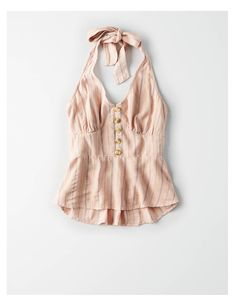 AE Button Down Neckholder Top, Pfirsich Spring Summer Fashion, Spring Outfits, Girl Outfits, Casual Outfits, Fashion Outfits, American Eagle Dress, American Eagle Outfits, Moda Rock, Pretty Outfits