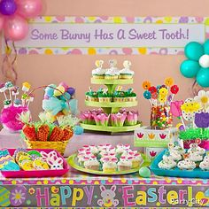 Sweet ideas for an Easter treats table - so fun to create. Love spring colors!