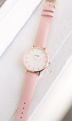 La Boheme Rose Gold White/Pink Watch - CLUSE