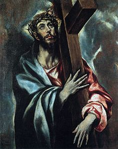 El Greco: Cristo con la cruz Procedente del convento de Olot Iglesia de Sant Esteve, Olot