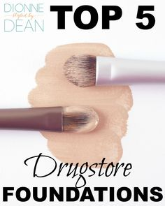 Check out my top 5 drug store foundations including L'oreal True Match, Maybelline Fit Me, Iman Foundation Stick, Rimmel Stay Matte and Sephora Collection 10-hr perfection