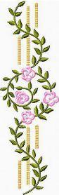 Flower Border machine embroidery design. Machine embroidery design. www.embroideres.com