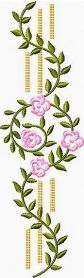 Flower Border machine embroidery design. Machine embroidery design. www.embroideres.com