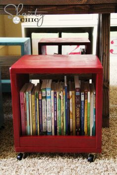 DIY Playroom Projects! • Lots of ideas and tutorials, including these DIY storage cubes by 'Shanty 2 Chic'!