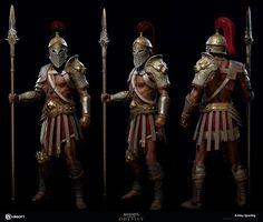 The Art Of Assassin's Creed Odyssey Arte Assassins Creed, Assassins Creed Odyssey, Armadura Medieval, Character Concept, Character Art, Character Design, Vikings, Roman Warriors, Greek Warrior