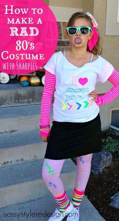 How to make an 80's halloween costume with sharpies