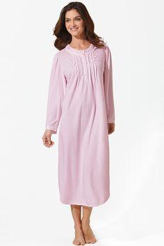 Miss Elaine Brushed Honeycomb Knit Long Gown @ belk.com #belk