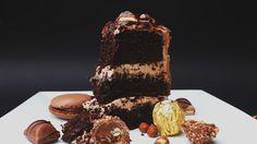 Ultimate Nutella Cake (Kinder Bueno, Ferrero Rocher, Nutella Macarons & Hazelnuts)