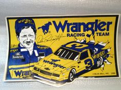 Dale Earnhardt Wrangler Racing Decal