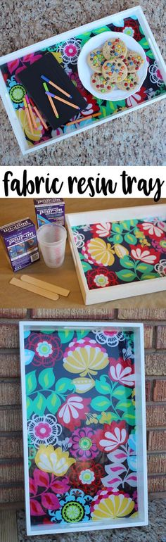 DIY Fabric Resin Serving Tray | Serving trays are functional and can make especially unique decorations. Make them for specific seasons and holidays, or ultimately, just to brighten your day.