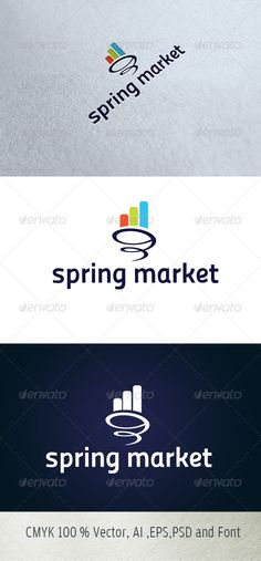 Spring Market  #GraphicRiver        Logo Description:  The logo is Easy to edit to your own company name.The logo is designed in vector for highly resizable and printing. The Logo Pack includes.   100% vector (re-sizable).  Color mode: CMYK.  AI file (for Illustrator CS or higher).  EPS file (for Illustrator / Corel Draw / Freehand).  Help document with download link of the font used.   Please rate if you like it !!     Created: 4October13 GraphicsFilesIncluded: PhotoshopPSD…
