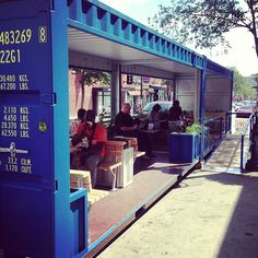 parklet out of 20' foot shipping containers