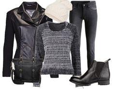 Das Outfit ist perfekt für einen schicken Look an kalten Tagen ♥ #outfit #look #winter #fashion