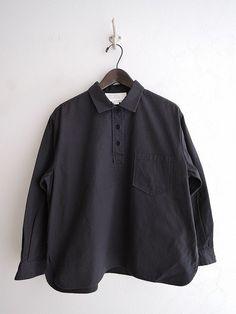 ほぼ日×ヤエカ hobonichi×YAECA コットンプルオーバーシャツ