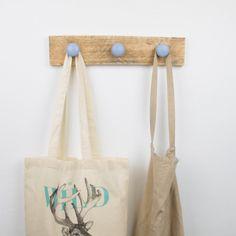Colgador madera recuperada azul | Antic&Chic