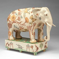 'The Elephant From Assam' by Georgina Warne, hand painted high fired earthenware, 28 x 33 x 12cm, £3,600