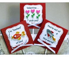 Fun quilling Valentine cards/lollipop covers.  I took inspiration from the corny sayings found on the Valentines school children give each other.