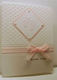 cuttlebug card ideas | Cuttlebug baby feet and swiss dots embossing folders by bethany by shiver