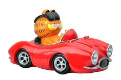 Woods International Garfield The Cat in Sports Car LED Solar Lighted Statue ** Review more details here : Garden statues