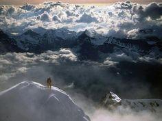 En la cima de los Alpes Suizos. Maravilloso.