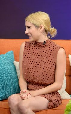 """Emma Roberts is on the set of Univisions """"Despierta America"""" to support the film """"Nerve"""""""" at Univision Studios on July 14, 2016 in Miami, Florida."""