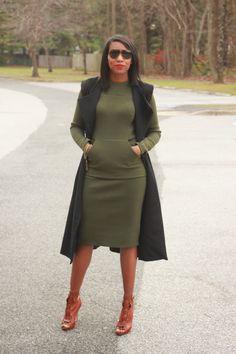Beaute' J'adore: DIY Neoprene dress and sleeveless coat