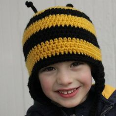 Crochet Bumble Bee Hat - one of my next projects for a friend