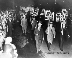 Prohibition. Law that made alcohol illegal in 1920s. People had to hide their alcohol and cocktails came into fashion in order to disguise their alcohol and cover up bad taste.