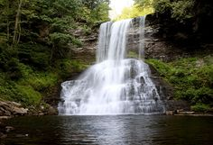 The Cascades waterfall in Giles County, Virginia.  Giles County is the location of Mountain Lake, one of only two natural fresh water lakes in Virginia. The Lake drains into Little Stony Creek, which...