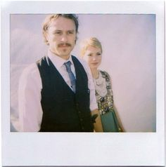 Heath Ledger and Michelle Williams | 26 Fascinating Polaroids Of Celebrities