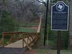 The Rusk Foot Bridge was built in 1861 and is believed yo be the nations longest at 546 feet. Rusk, Texss