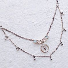 @themaniamania Delicate crystal details Our Elemental Necklace with Rose Quartz and Labradorite faceted crystals and a natural Herkimer Diamond on an Alchemy symbol www.themaniamania.com #ManiaMania #AlchemizeYourWorld