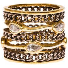 Melinda Maria Oxidized Link Ring
