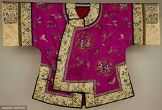 Augusta Auctions, April 17, 2013 - NYC: Fuschia Silk Jacket, China, Early 20th C