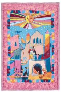 Wohnplaid Rosina Wachtmeister Little Town 135 x 200 cm Salonloewe