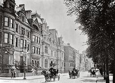 5th Avenue, north from 66th Street. New York City, New York. 1900.