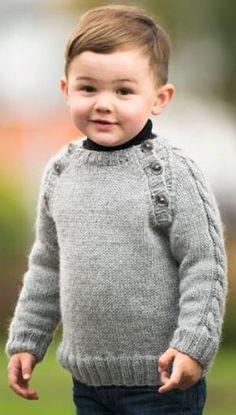 Strikket sweater til drenge | Familie Journal